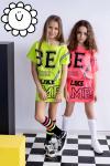 Dievčenská letné šaty MM 529 neon pink