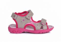D.D.STEP športové celokožené sandále AC290-7034L grey
