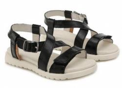 Letné dievčenské sandále D.D.STEP AC055-1L black