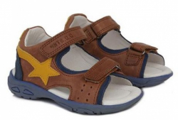 D.D.STEP celokožené sandále AC290-7027BL chocolate