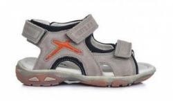 D.D.STEP športové celokožené sandále AC290-7029BL grey