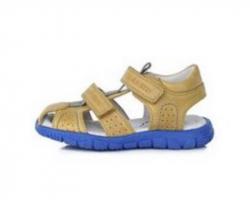 DD STEP celokožené letné sandále K330-4009BM yellow