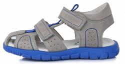 DD STEP celokožené letné sandále K330-4009AL grey