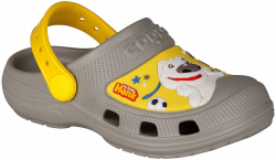 COQUI detské crocsy MAXI 9382 grey/yellow