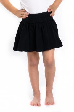 Dievčenská bavlnená sukňa M 521 čierna