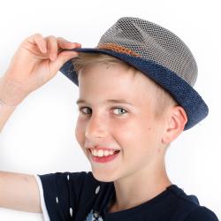Chlapčenský letný klobúk modrý