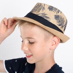 Chlapčenský letný klobúk bežový
