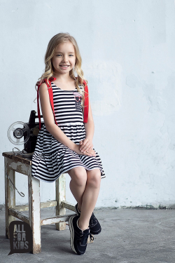 Dievčenské letné šaty pásikavé
