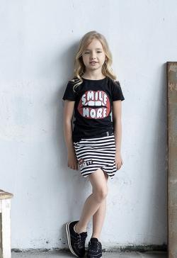 Dievčenská bavlnená sukňa-kraťase 2v1