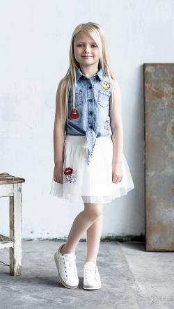 Dievčenská tylová sukňa biela YEAH