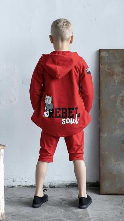 Bavlnená chlapčenská mikina  REBEL
