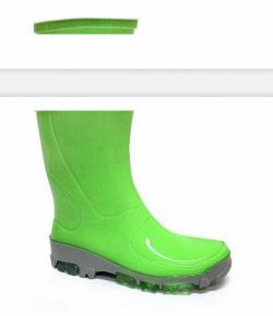 MUFLON detské gumáky neon zelené