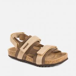 MAYORAL korkové kožené sandále 43115-042 hazelnut