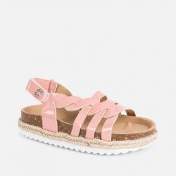 Korkové letné sandále MAYORAL 45063-071 salmon