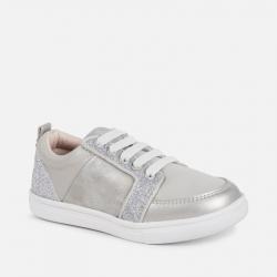 Prechodná dievčenská obuv MAYORAL 45015-054 silver