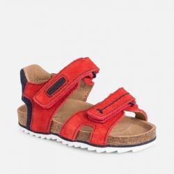 MAYORAL korkové kožené sandále 43082-028 red
