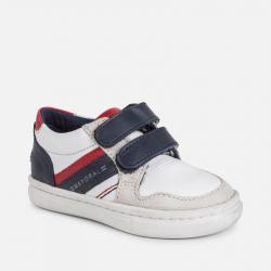 Chlapčenská celokožená obuv MAYORAL 41052-092 White