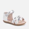 Dievčenské letné sandále bielostrieborné MAYORAL