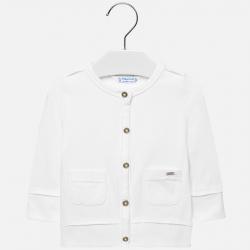 MAYORAL dievčenský bavlnený sveter 1413-016 white