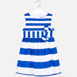 MAYORAL dievčenské šaty bielomodré 3924-043 Blue