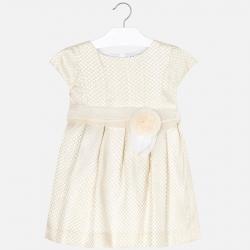 Krémovozlaté taftové šaty MAYORAL 3912-072 Natural