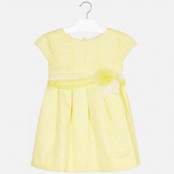 Žlté taftové šaty MAYORAL 3912-071 Citrus