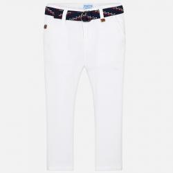 MAYORAL chlapčenské nohavice s opaskom 3516-058 white