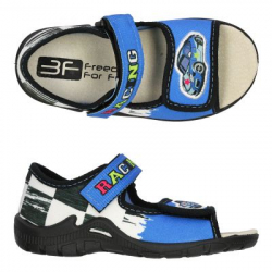 Detské papuče sandále s koženou stielkou 3F racing