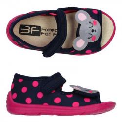 Detské papuče sandále s koženou stielkou 3F mouse