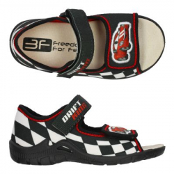 Detské papuče sandále s koženou stielkou 3F drift king