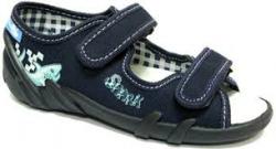 Chlapčenské papučky  sandálky RENBUT 23-378 žralok