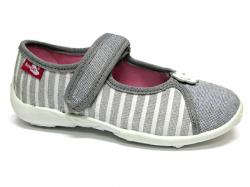 Dievčenské papučky balerínky RENBUT 33-415 sivé