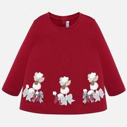 MAYORAL  dievčenské  tričko 2016-090 red