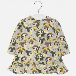 Dievčenské šaty s dlhým rukávom MAYORAL 2931-038 yellow