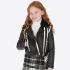 MAYORAL kožený kabát  7413-002 black