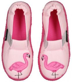 Barefoot detské papuče NANGA flamingo