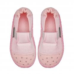 NANGA barefoot dievčenské papuče pink kleiner Stern