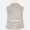 MAYORAL dievčenská kožušinová vesta 4307-078 Silver