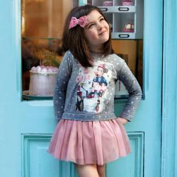 Dievčenské šaty s tylovou suknňou 4945-026 Crystal