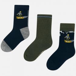 3 páry chlapčenských ponožiek MAYORAL 10674-021 Moss