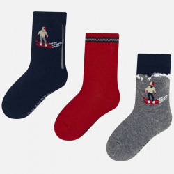 3 páry chlapčenských ponožiek MAYORAL 10674-022 Red