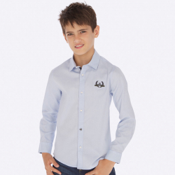 Bledomodrá MAYORAL chlapčenská košeľa 7121-052