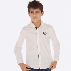 Biela MAYORAL chlapčenská košeľa 7121-053 White