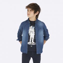 Rifľová MAYORAL chlapčenská košeľa 7118-052 Dark