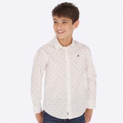 MAYORAL košeľa s drobným vzorom 7117-084 White