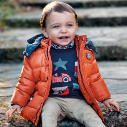 MAYORAL zimný kabát nepremokavý 2448-085 Pumpkin