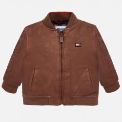 MAYORAL chlapčenský kožený kabát 2444-002 Leather