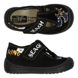 Chlapčenské papuče s koženou stielkou 3F HEROS beach