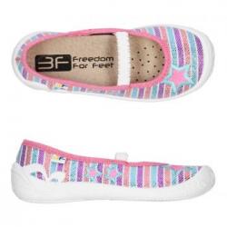 Dievčenské papuče s koženou stielkou 3F PRIMA pink