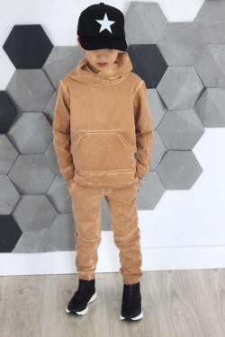 Hnedá chlapčenská mikina vyšúchaná MM 970 brown